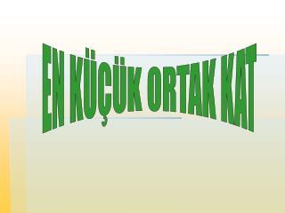 EN K���K ORTAK KAT