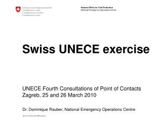 Swiss UNECE exercise