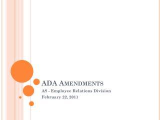 ADA Amendments