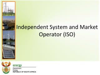 Independent System and Market Operator (ISO)