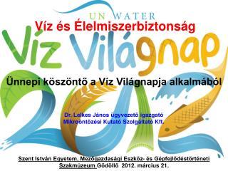 Víz és Élelmiszerbiztonság
