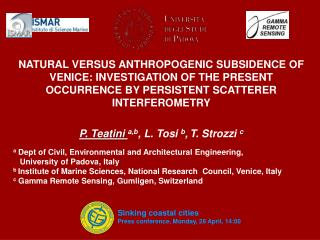 a Dept  of Civil, Environmental and Architectural Engineering,     University of  Padova , Italy