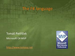 The F# language