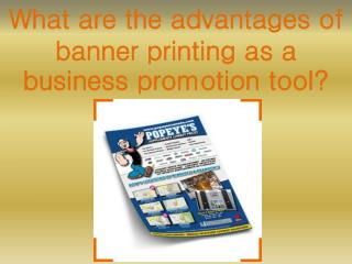 What are the advantages of banner printing as a business pro