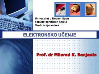 Univerzitet u Novom Sadu Fakultet tehni čkih nauka Saobraćajni odsek