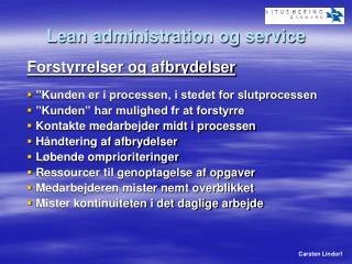 Lean administration og service