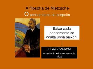 A filosofía de Nietzsche O  pensamiento da sospeita