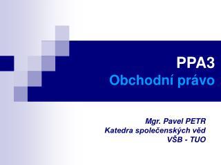 PPA3 Obchodní právo