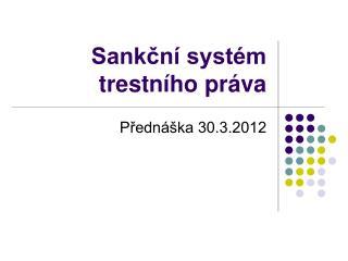 Sankční systém trestního práva