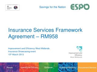 Insurance Services Framework Agreement – RM958
