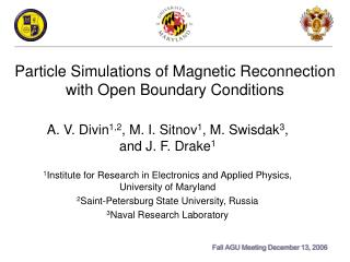 Particle Simulations of Magnetic Reconnection with Open Boundary Conditions
