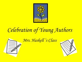 Celebration of Young Authors