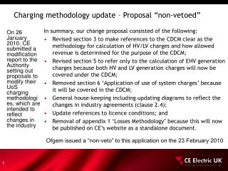 "Charging methodology update – Proposal ""non-vetoed"""