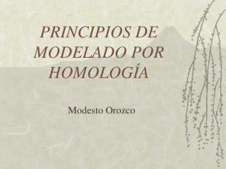PRINCIPIOS DE MODELADO POR HOMOLOG A