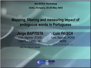 Mapping, filtering and measuring impact of ambiguous words in Portuguese