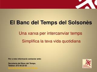 El  Banc  del  Temps  del  Solsonès