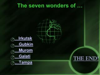 The seven wonders of …