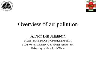 Overview of air pollution
