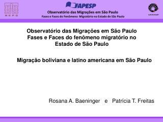 Observatório das Migrações em São Paulo