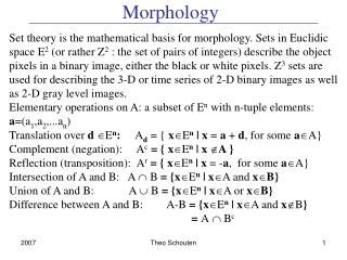 Morphology