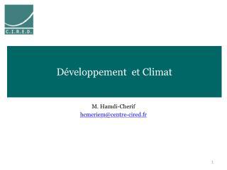 D�veloppement  et Climat