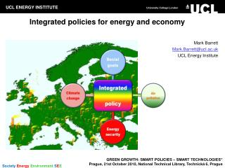 Integrated policies for energy and economy