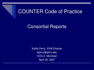 COUNTER Code of Practice