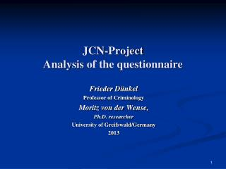 JCN-Project Analysis  of the questionnaire