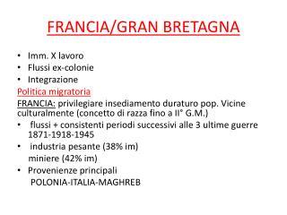 FRANCIA/GRAN BRETAGNA