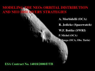 MODELING THE NEOs ORBITAL DISTRIBUTION AND NEO DISCOVERY STRATEGIES