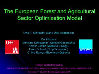 The European Forest and Agricultural Sector Optimization Model