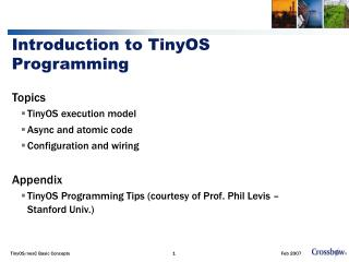 Introduction to TinyOS Programming
