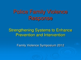RESPONDING TO CHILD VICTIMS  WITNESSES OF FAMILY VIOLENCE