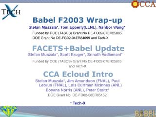 Babel F2003 Wrap-up