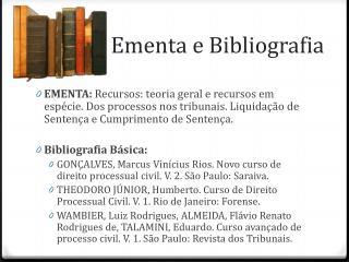 Ementa e Bibliografia