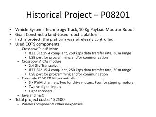 Historical Project – P08201