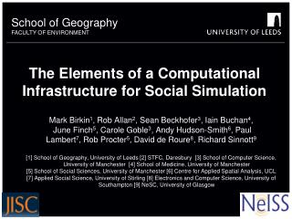 The Elements of a Computational Infrastructure for Social Simulation