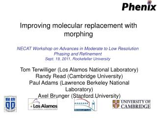 Improving molecular replacement with morphing