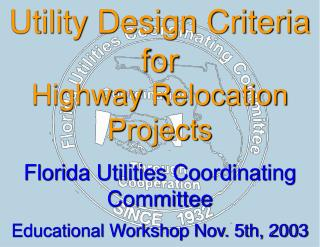 Utility Design Criteria for