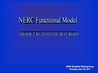 NERC Functional Model