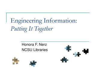 Engineering Information: Putting It Together