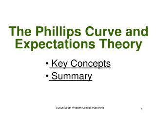 The Phillips Curve and Expectations Theory