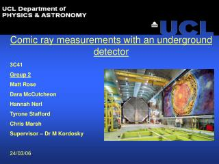 Comic ray measurements with an underground  detector