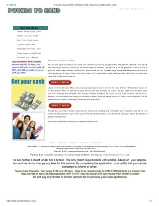 6 month loans bad credit