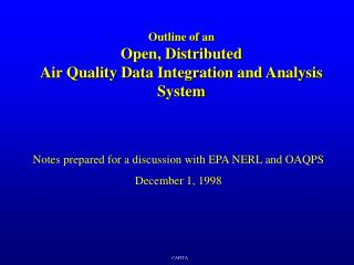 Outline of an Open, Distributed Air Quality Data Integration and Analysis System