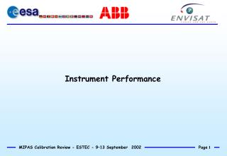 Instrument Performance