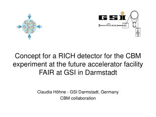 Claudia H�hne - GSI Darmstadt, Germany CBM collaboration