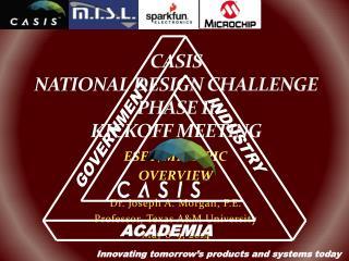 CASIS NATIONAL DESIGN CHALLENGE PHASE II KICKOFF MEETING