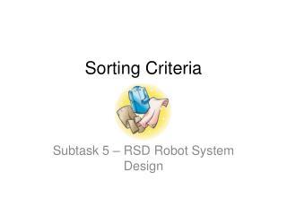 Sorting Criteria