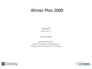 Winter Plan 2009
